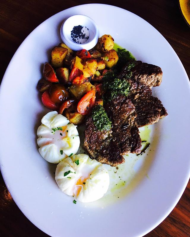 This 6oz Grilled Filet Mignon with poached eggs and vegetables _formasantamonica #formarestaurant #foodielover211 #yelp #yelpla #yelpsantamo