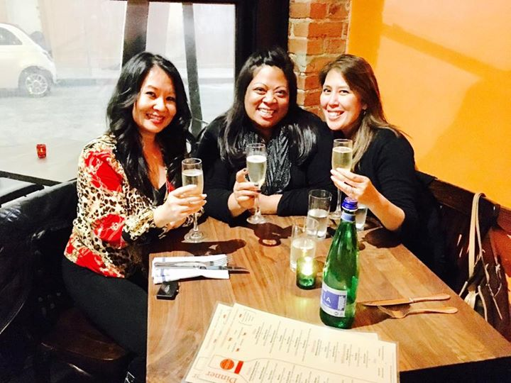 Cheers to the New Year with my lovely foodie ladies!