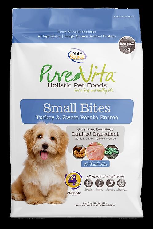 Purevita Turkey & Sweet Potato SMALL BITES (DOG)