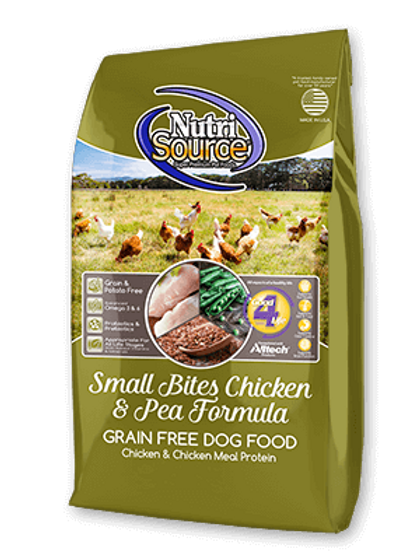 Nutrisource Grain Free Chicken & Peas SMALL BITES