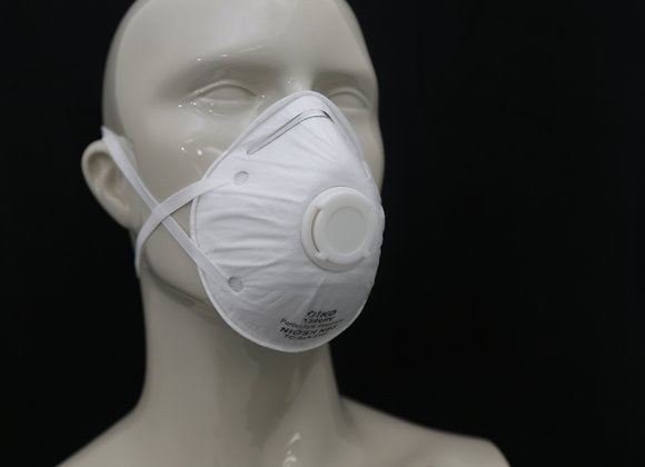 N95 RESPIRATOR, NIOSH APPROVED (WITH EXHALATION VALVE)