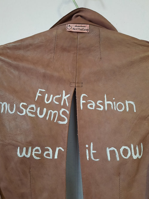 leather jacket handpainted by NotThatSexy vintage Collection Privee