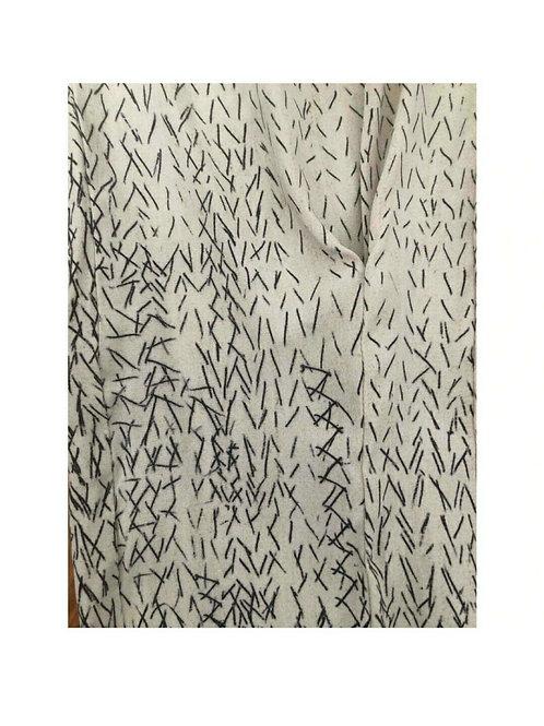 pretty print A.F. Vandevorst panelled skirt silk one size