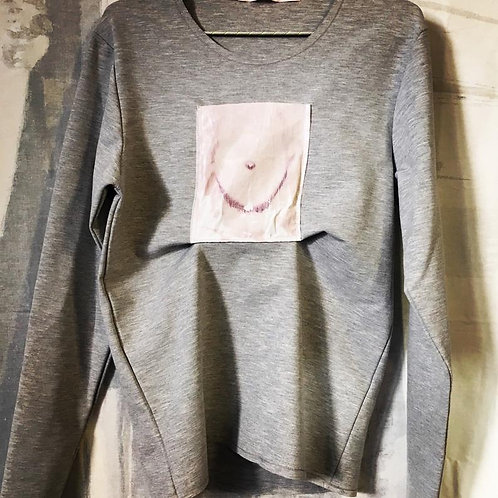 breast pocket drawing NotThatSexy longsleeve Selected homme reworked