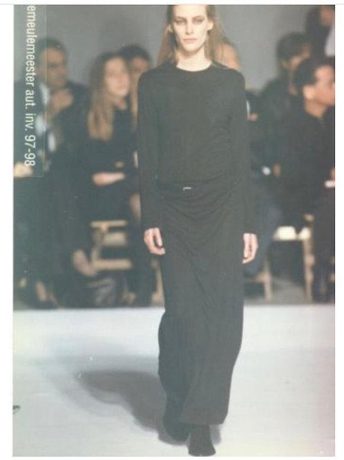 Ann Demeulemeester blouse dress XL very vintage & upcycled floorlength