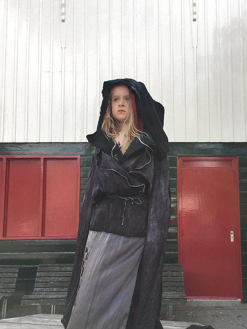 Cavalli robe reworked by NotThatSexy screenprinted silk fabric design