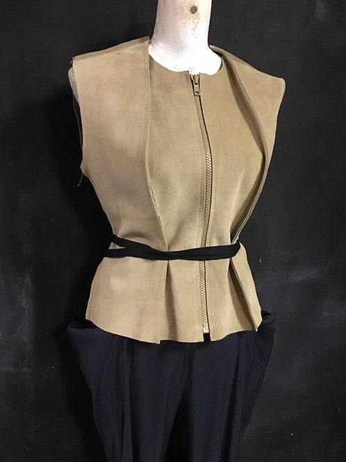 suede Maison Martin Margiela gilet vest jacket size small