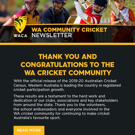 The latest WA Community Cricket news!