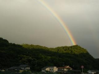 虹がでた・・ヽ(^o^)丿