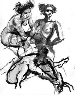 © 2015  Model: Joy Fully @lovelivingart  Artist: Student  Ink on Paper