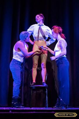 Performer: Joy Fully @lovelivingart  Performer: Tanya Ubeda @dance.heals.all  Performer: Allegra Meshuggah @gutter.face  Photography: Brynne Levy @brynne.levy