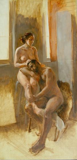© 2013  Model: Joy Fully @lovelivingart  Model: Christopher Issa  Artist: Jason Clary www.jasonclaryart.com  Oil on Linen