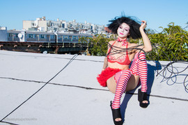 ©2018  Costume Design, Clowning and Makeup: Joy Fully @lovelivingart  Photography: Albert Cadabra @ireallyhopeyouwin