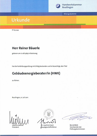 German certified energy consultant
