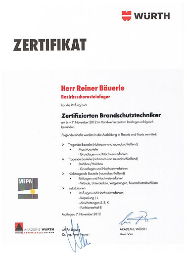German certified fire protectio technician