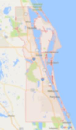 google map brevard county service area