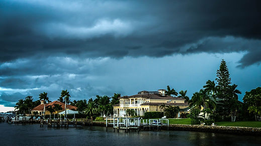 Florida storm and rain, leaking chimney, water entering chimney