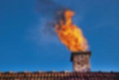 chimney fire, chimney smoke,