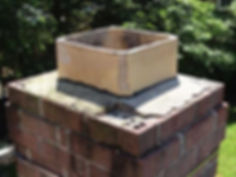 This picture shows that the chimney wash is damaged.