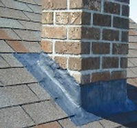 This picture shows a repaired flashing with seal