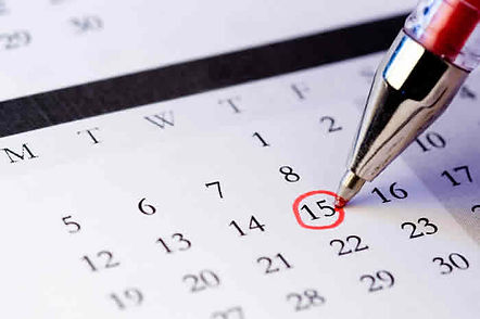 Calender appointment same day evening weekend
