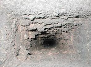 Regular soot in chimney