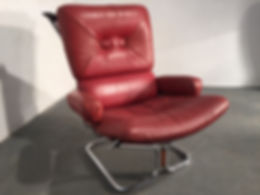 The Wing Chair and ottoman designed by Harald Relling - Original Compulsive Design - Vintage 20th Century Design