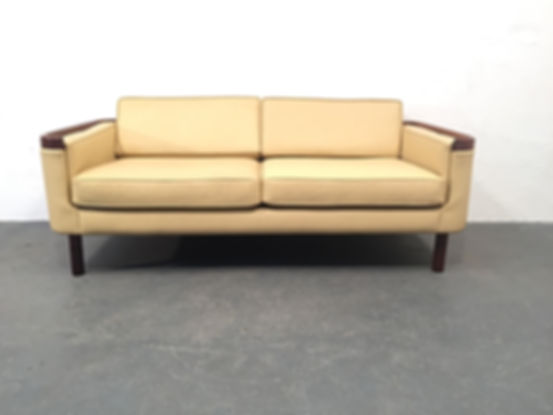 1960s Danish Sofa - Rosewood and Leather - Vintage OCD - Original Compulsive Design