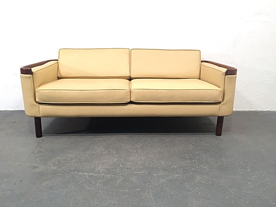 1960s Danish Sofa - Rosewood and Leather - Vintage OCD - Original Compulsive Design