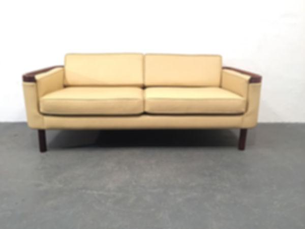 1960s Danish Sofa - Rosewood and Leather - Original Compulsive Design