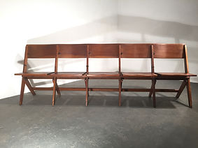 SOLD - 1920s Elm Theatre Cinema Seating - OCD Vintage