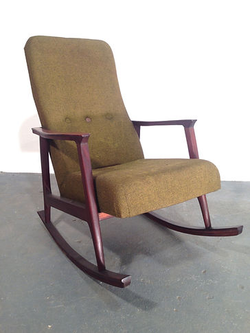 Vintage Danish Rocking Chair - 1960s danish rosewood original - Vintage 20th Century Design