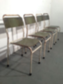Vintage Stacking Chairs - School - Hall chairs - Adult size - Vintage 20th Century Design - Vintage Ireland