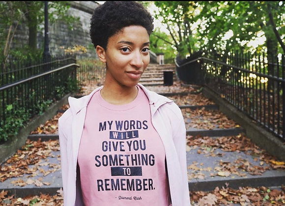 (Women's Cropped Sweatshirt) My Words Will Give You Something To Remember
