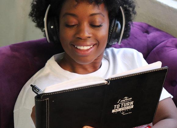 Headphones & notebook