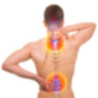 Spine Pain - Male Hurt Backbone isolated