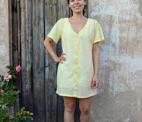 Taller costura - Vestido botones