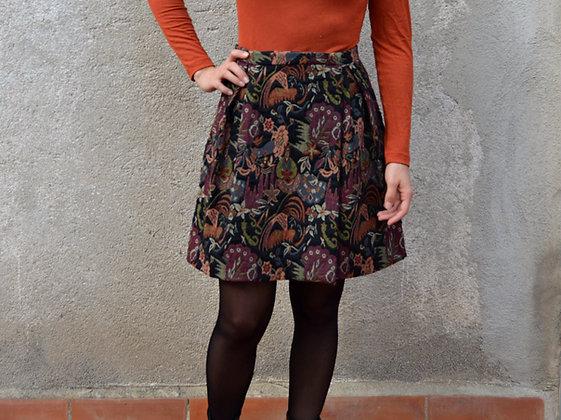 Taller de costura - Falda trapecio cruzada