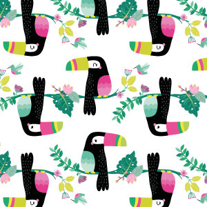 French terry Toucans