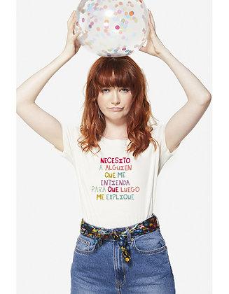 Camiseta Necesito a alguien