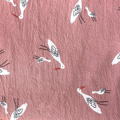 Algodón rústico Salians birds