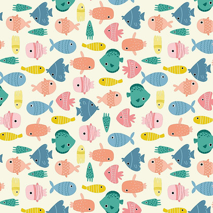 Tela jersey Fish party