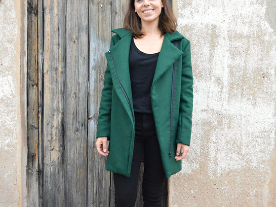 Taller costura - Abrigo con cremallera