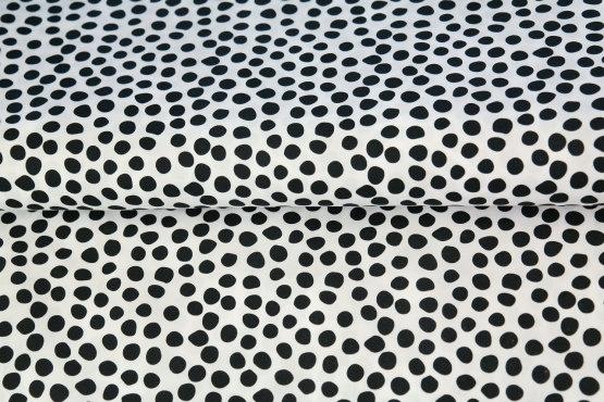 Popelín Black dots