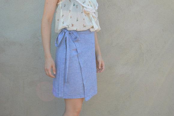 Taller de costura - Falda cruzada