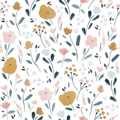 Popelín Little rat flowers