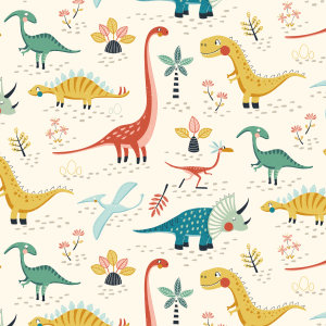 French terry Dino Friends