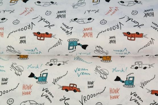 Popelín Cars
