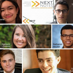 American Composers Forum Announces Winners of the NextNotes High School Composition Awards (PRESS RELEASE)
