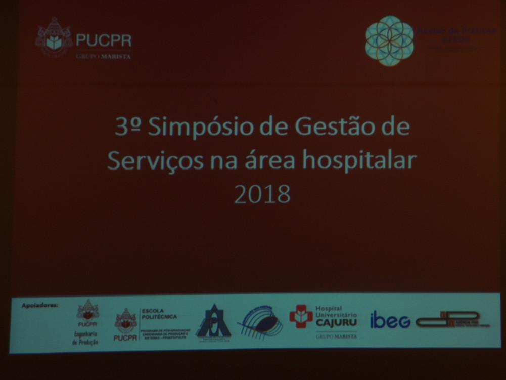 III SIMPÓSIO DE GESTÃO DE SERVIÇOS HOSPITALARES